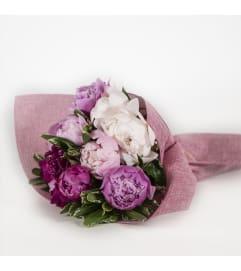 Bouquet of 12 peonies