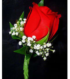 Standard Red Rose Boutonniere