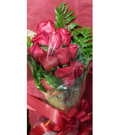 Red Roses in Foil Sleeve