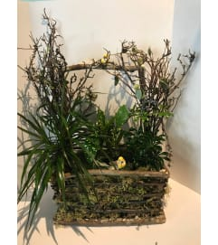 Rustic Garden Planter Basket