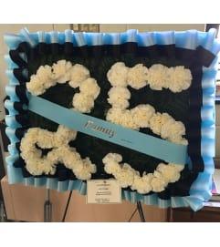 Number Floral Design for Funeral