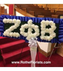 Greek Letter Funeral Flower Set Piece