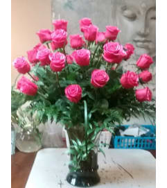 Fuchsia Flamingo Rose Arrangment