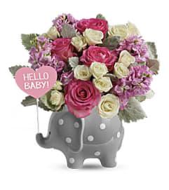 Hello Baby Elephant-Pink