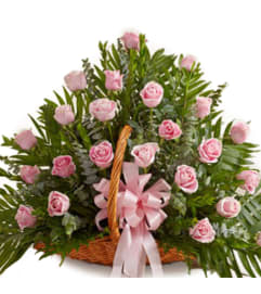 Colombian Pink Rose Basket