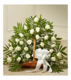 All White Rose BAsket