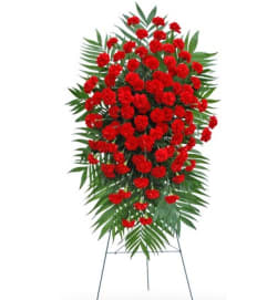 Red Carnation Standing Spray