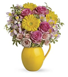 The Sunny Day Pitcher Of Charm Bouquet