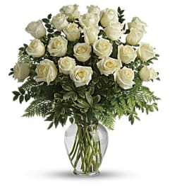 Super Quality White Rose in vase