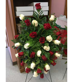 White and Red Rose Elegance