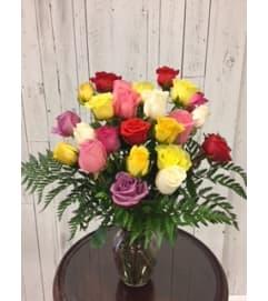 Limited Time 24 mix color Roses  Bouquet
