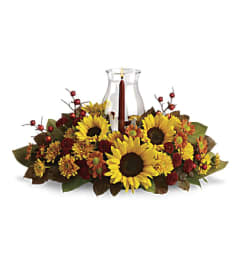 Hurricane Sunflower Centerpiece