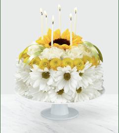 Birthday Smiles Floral Cake