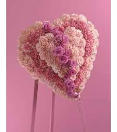 Beautiful Pink Heartfelt Heart