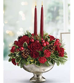 Vintage Style Christmas Centerpiece
