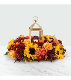 Giving Thanks Centerpiece W/ Lantern