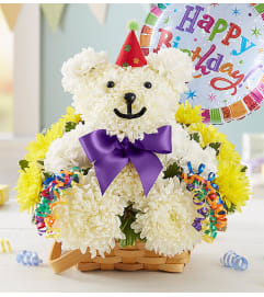Birthday Beary with Happy Birthday Balloon