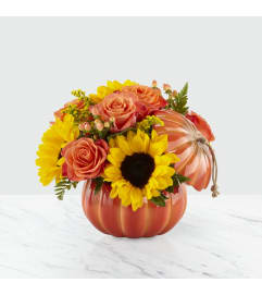Harvest Traditions Pumpkin FTD Bouquet