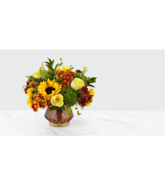 Fall Harvest Bouquet with Sunflowers