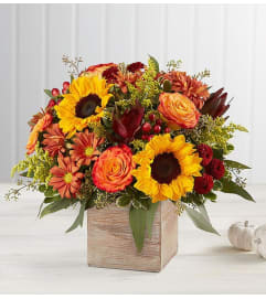 Harvest Glow Bouquet in Rustic Box