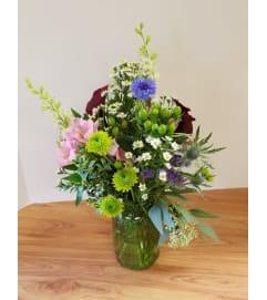 Garden Love Canning Jar Bouquet