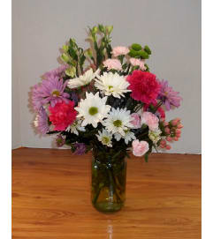 Garden of Daisies Canning Jar Bouquet