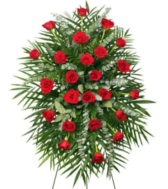 RED ROSES STANDING SPRAY - FSN