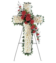 Hope and Honor Cross Standing Spray