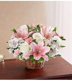 Basket-Pink & White