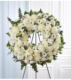 Open Wreath-White