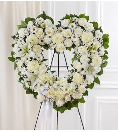 Open Heart Wreath-White Mix