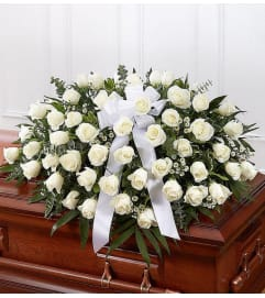 Casket Spray-White Roses