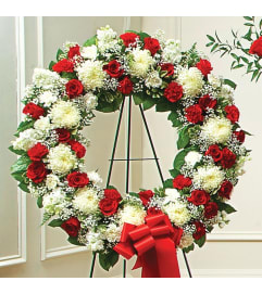 Open Wreath-Red & White