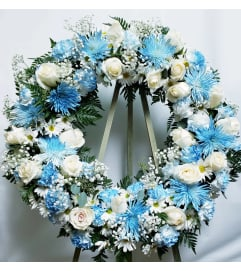 Wreath-Blue Mix