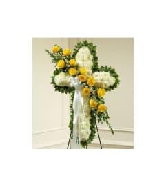 Cross-Yellow & White