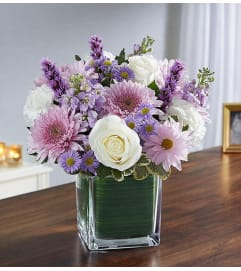 Cube Arrangement-Lavender & White