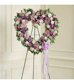 Open Heart-Lavender and White