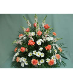 Floor Basket-Orange/Peach