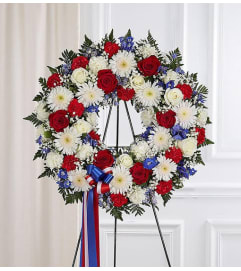 Wreath-Patriotic