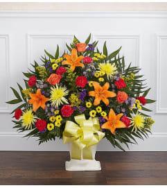 Floor Basket-Bright Colors