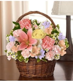 Basket Arrangement-Pastel