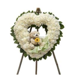 Heart Wreath with Teddy Bear