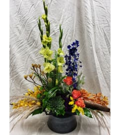 FALL TONED SYMPATHY FLOWERS