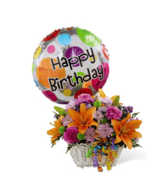 Happy Blooms Basket by FTD Flowers