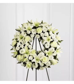 The Treasured Tribute™ Wreath by FTD Flowers