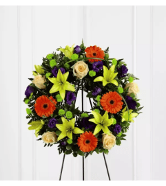 The Radiant Remembrance™ Wreath by FTD Flowers