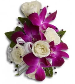 Fancy Orchids and Roses Wrist Corsage *PLEASE CALL TO ORDER*