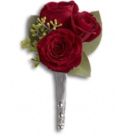 King's Red Rose Boutonniere *PLEASE CALL TO ORDER*