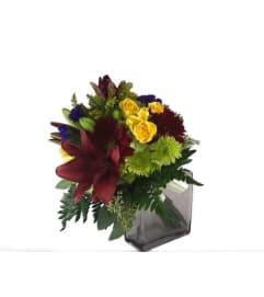 Autumn Lillies And Gerberas Bouquet