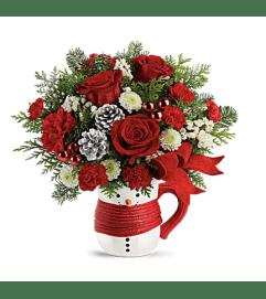 Frost Snowman Mug Bouquet